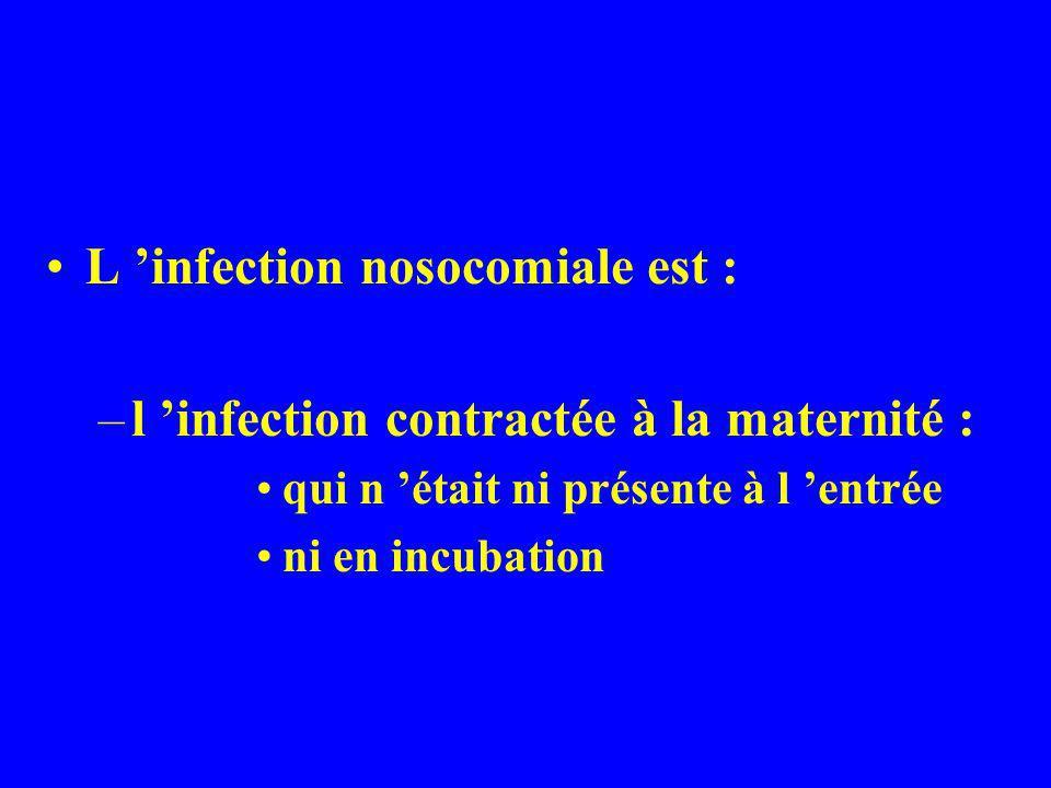 Les critères utilisés sont les critères internationaux du CDC d Atlanta (Centers for Disease Control) Haley - CDC definitions for nosocomial infections Am.