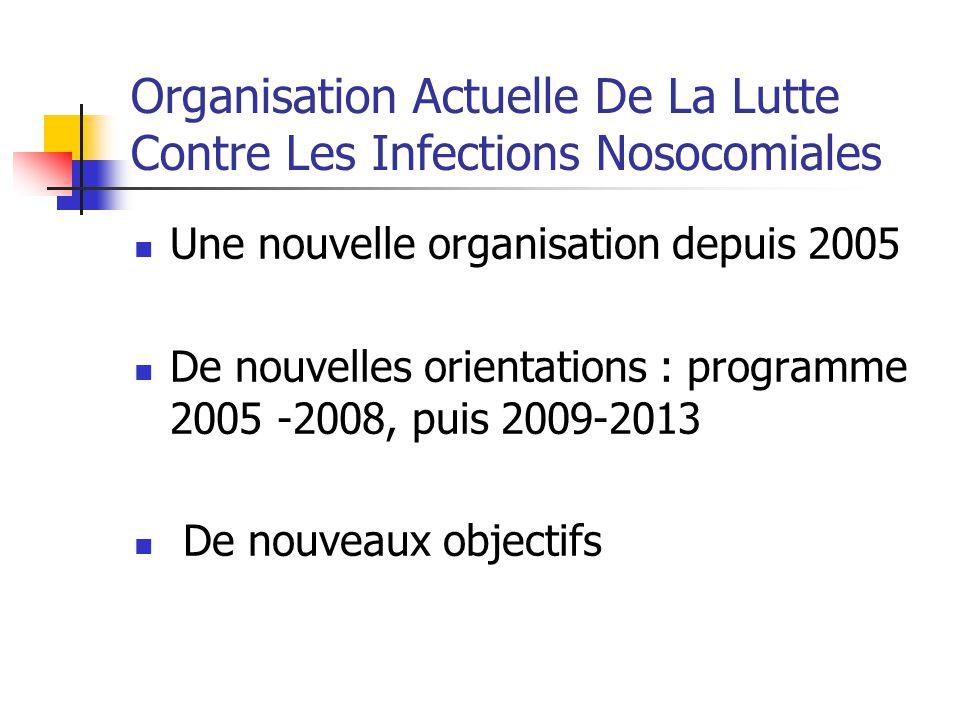 Organisation Actuelle De La Lutte Contre Les Infections Nosocomiales Une nouvelle organisation depuis 2005 De nouvelles orientations : programme 2005