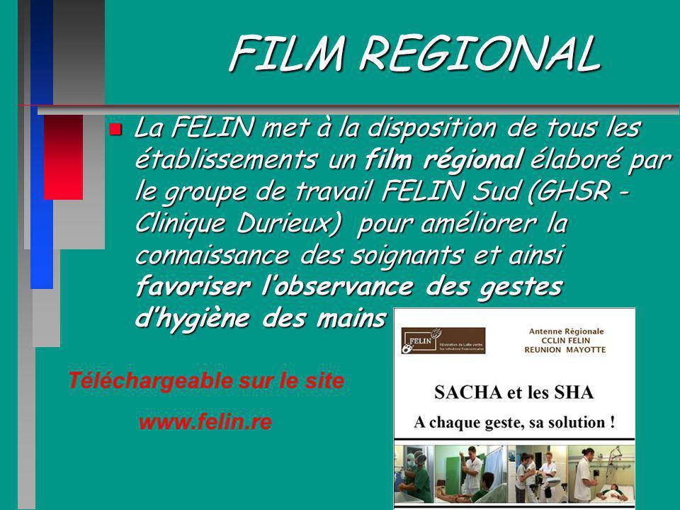 FILM REGIONAL n La FELIN met à la disposition de tous les établissements un film régional élaboré par le groupe de travail FELIN Sud (GHSR - Clinique