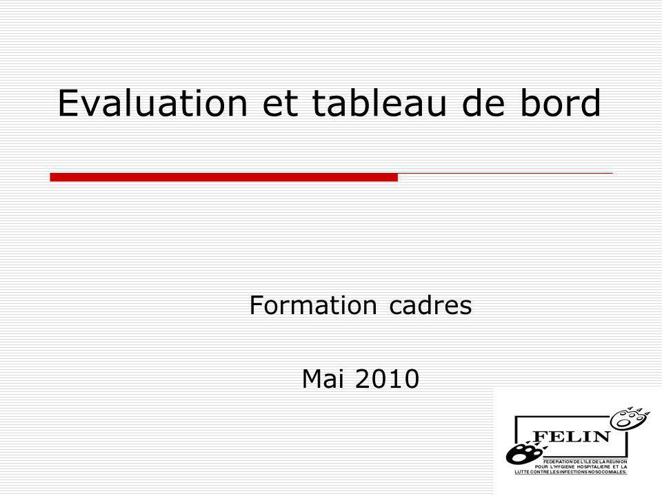 Evaluation et tableau de bord Formation cadres Mai 2010