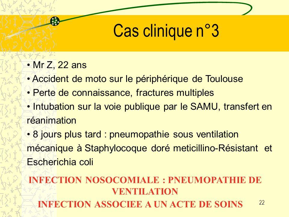 21 Cas clinique n°2 Patiente de 52 ans traumatisée médullaire suite à un accident de la route hospitalisée en réeducation fonctionnelle.
