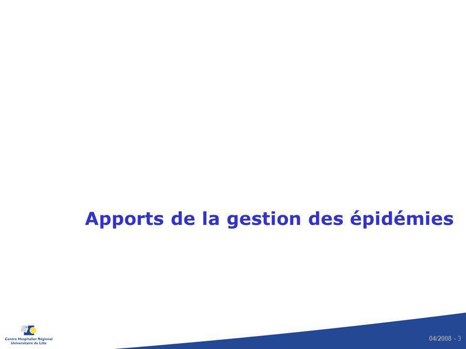 04/2008 - 3 Apports de la gestion des épidémies