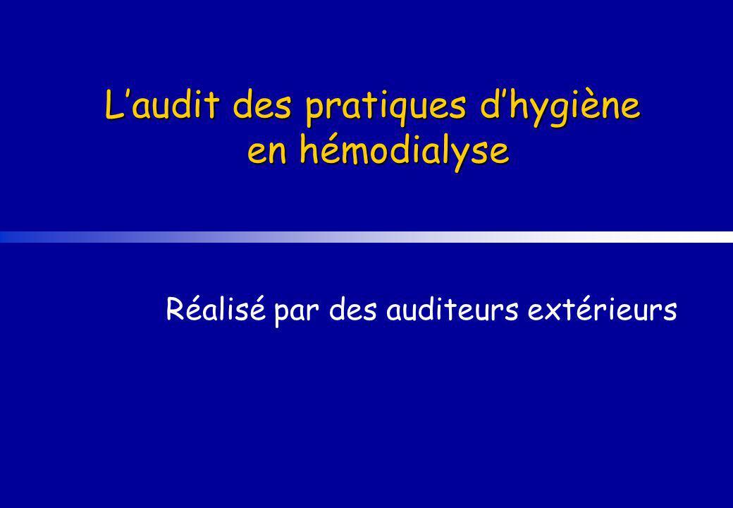 Laudit des pratiques dhygiène en hémodialyse Réalisé par des auditeurs extérieurs