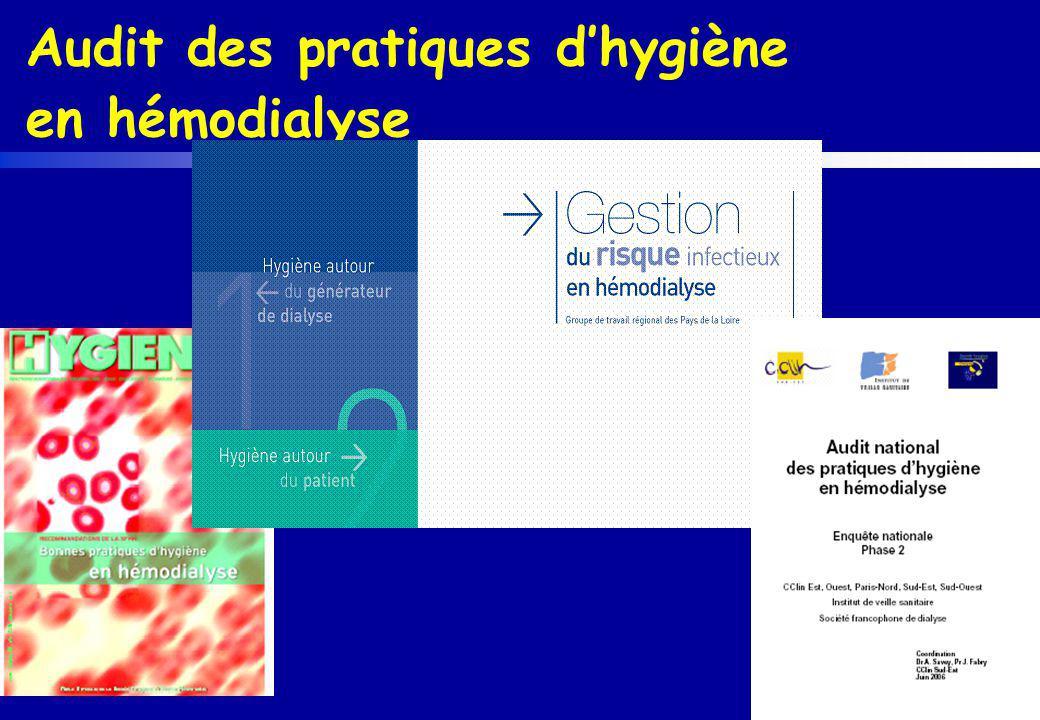 Audit des pratiques dhygiène en hémodialyse