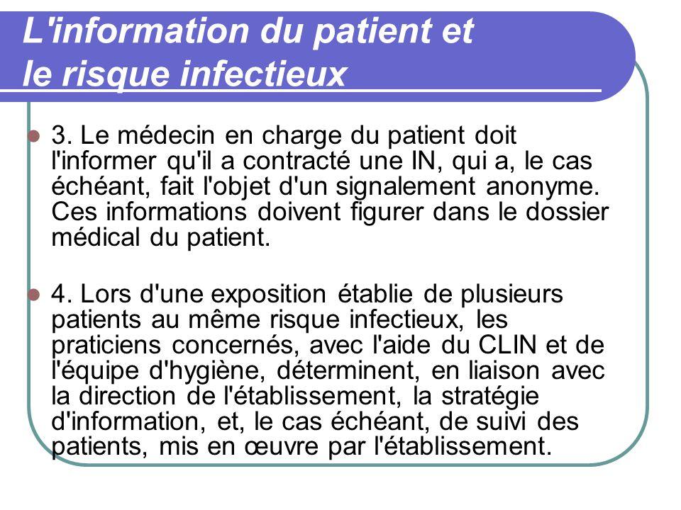 L information du patient et le risque infectieux 3.