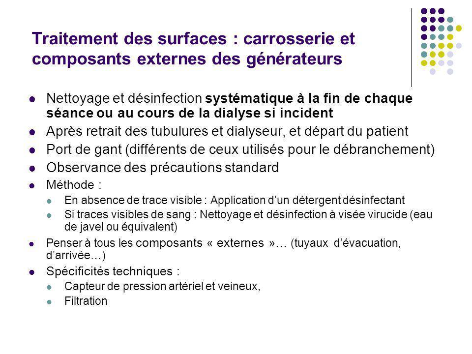 Mesures de prévention : sécurité (suite) - Le rinçage : contrôle taux résiduel produit Méthode, points de contrôle, conditions de conservation fournis
