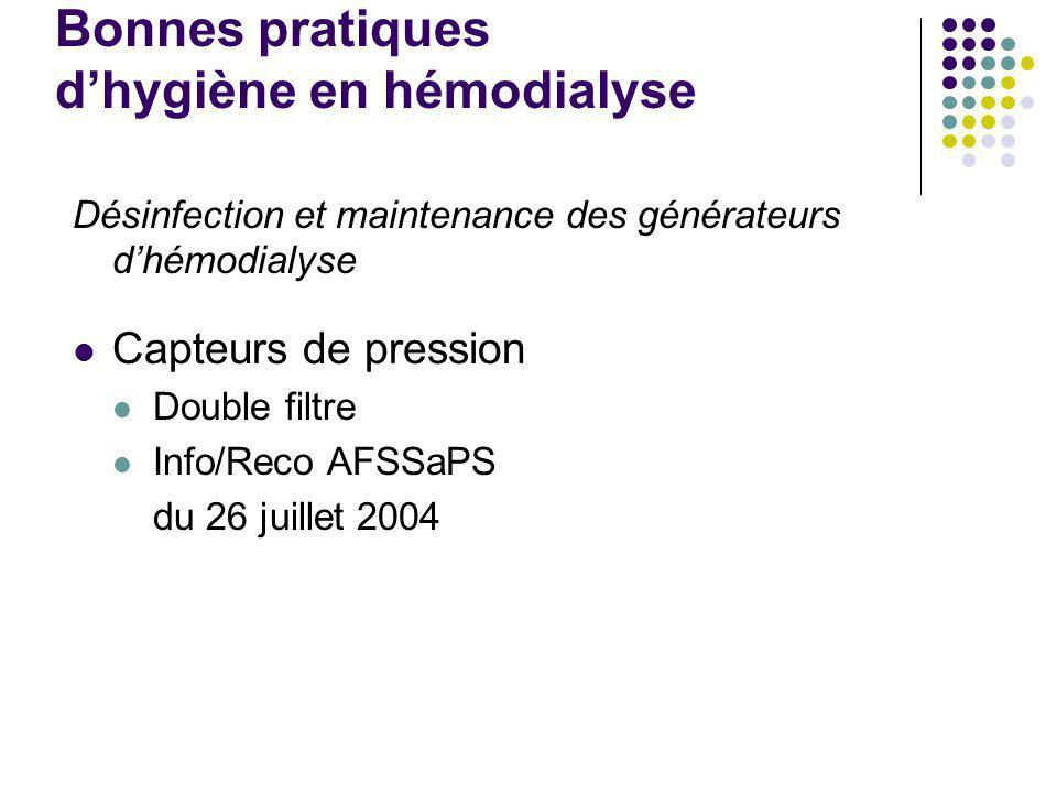 Traitement des surfaces : carrosserie et composants externes des générateurs Nettoyage et désinfection systématique à la fin de chaque séance ou au co