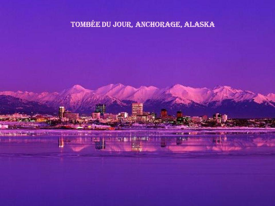 tombée du jour, Anchorage, Alaska