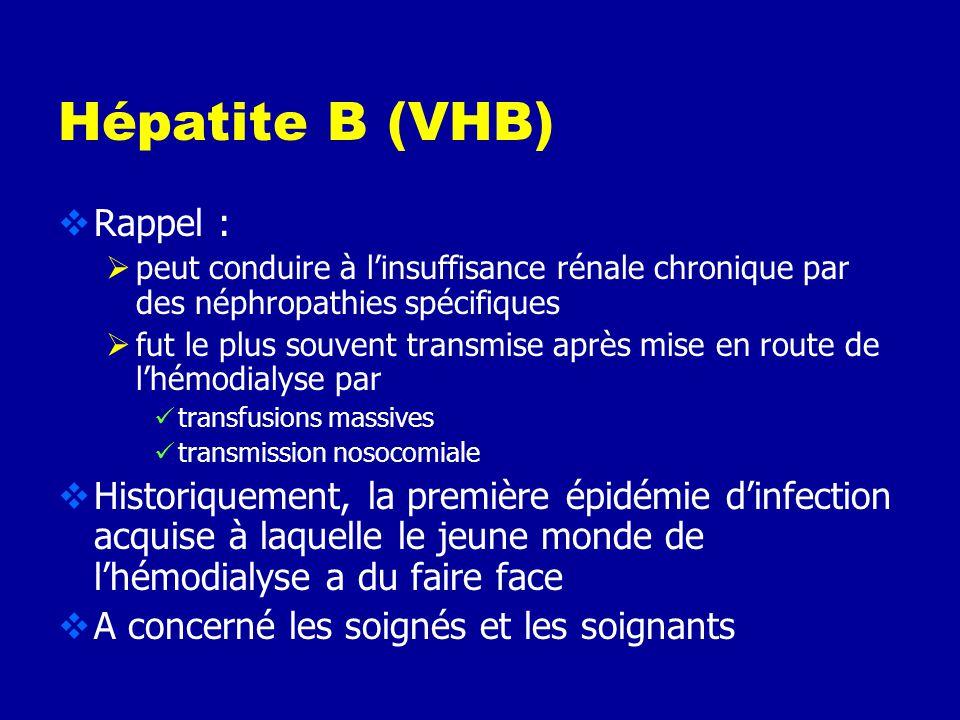 www.cclin-sudouest.com Risque infectieux en hémodialyse Risque viral VIH virus faiblement transmissible, virus fragile, risque éventuel lié à des erre