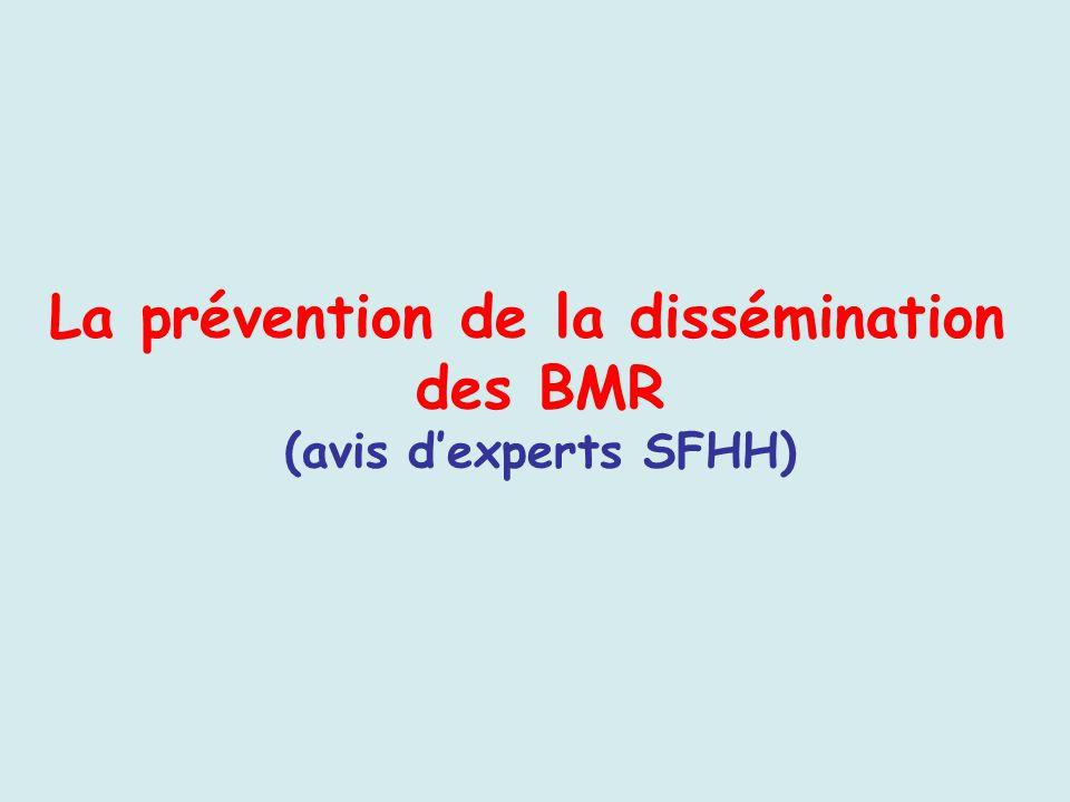 La prévention de la dissémination des BMR (avis dexperts SFHH)
