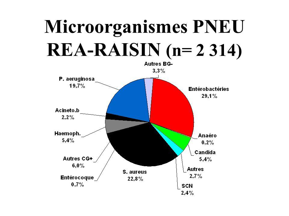 Microorganismes PNEU REA-RAISIN (n= 2 314)