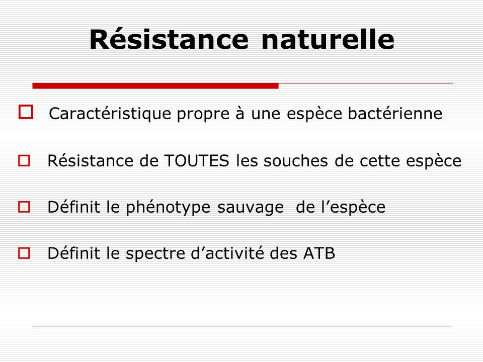 BMR Bactéries qui résistent à de nombreux antibiotiques, Résistantes à beaucoup plus dantibiotiques que la connaissance du phénotype sauvage ne le laissait prévoir.