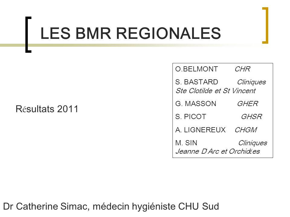 LES BMR REGIONALES R é sultats 2011 O.BELMONT CHR S.