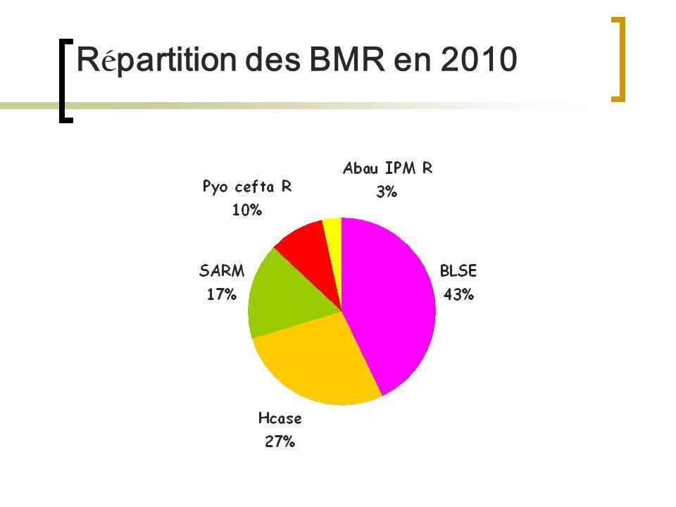 R é partition des BMR en 2010