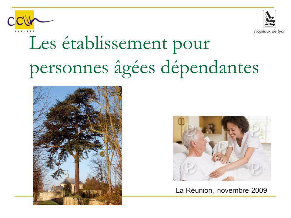 Les établissement pour personnes âgées dépendantes La Réunion, novembre 2009