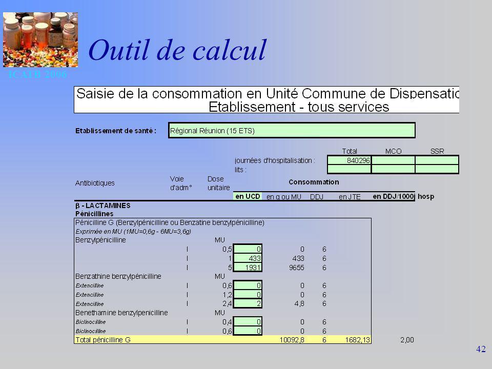 ICATB 2006 42 Outil de calcul