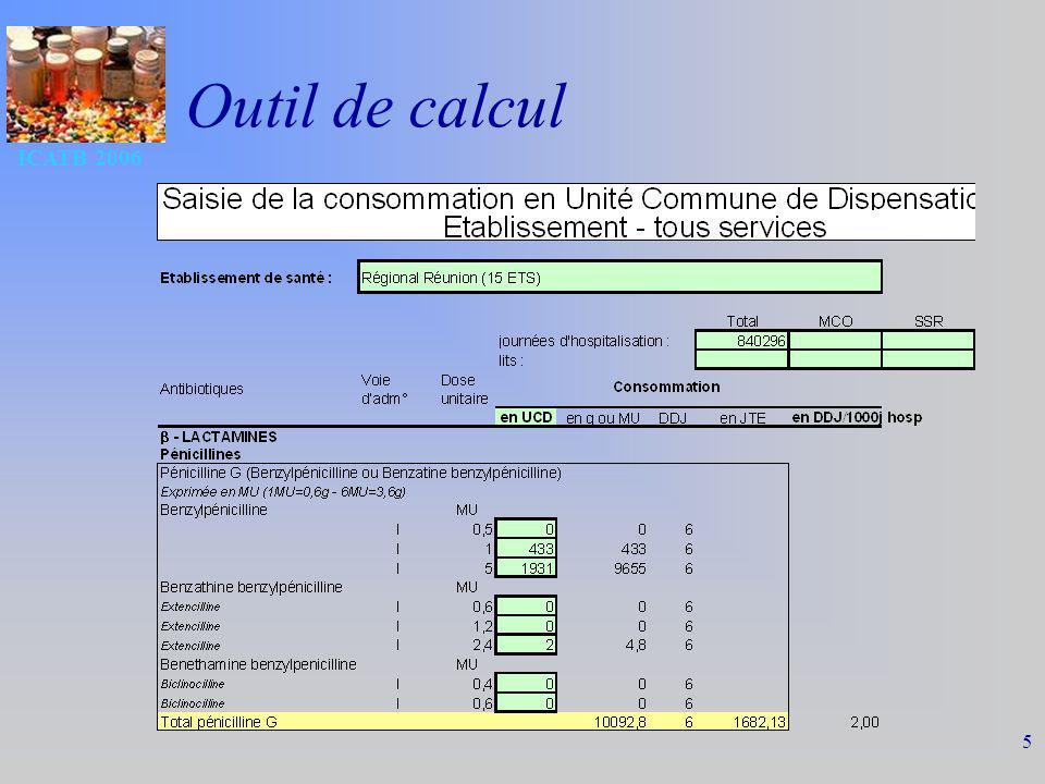 ICATB 2006 5 Outil de calcul