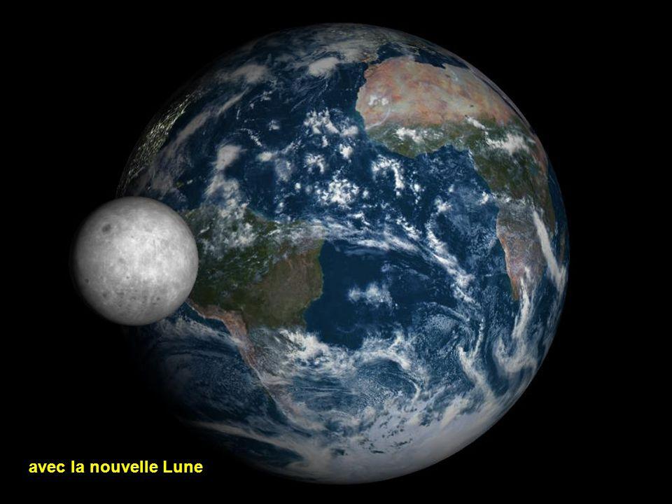 La Terre et la Lune croissante