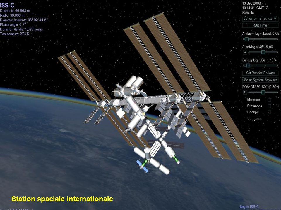 Le téléscope spacial Hubble est un télescope robotisé placé à la limite de latmosphère, en orbite circulaire autour de la Terre à 593 Km.