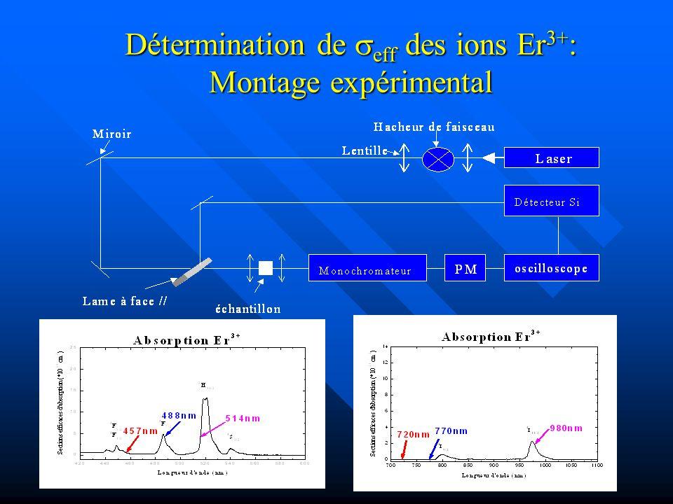 Détermination de eff des ions Er 3+ : Montage expérimental
