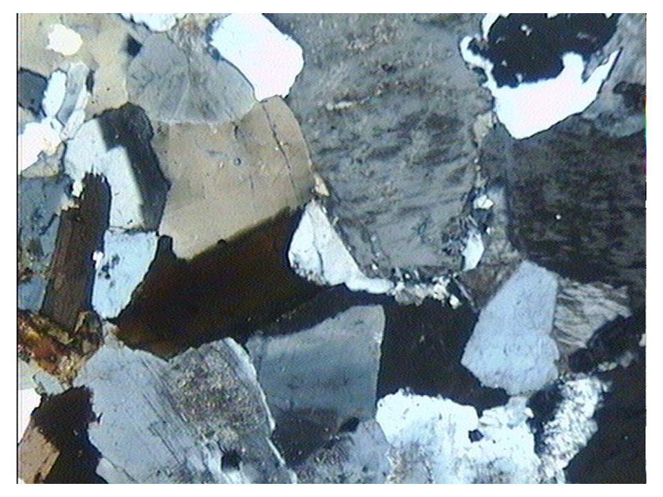 Texture grenue porphyroïde