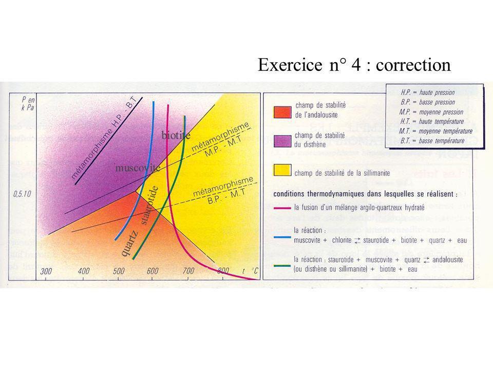 Exercice n° 4 : correction