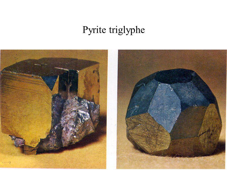 Pyrite triglyphe