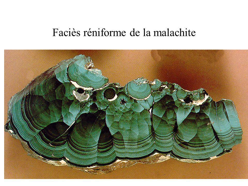 Faciès réniforme de la malachite