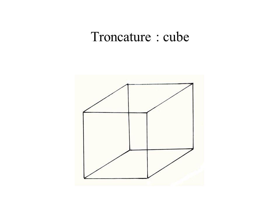 Troncature : cube