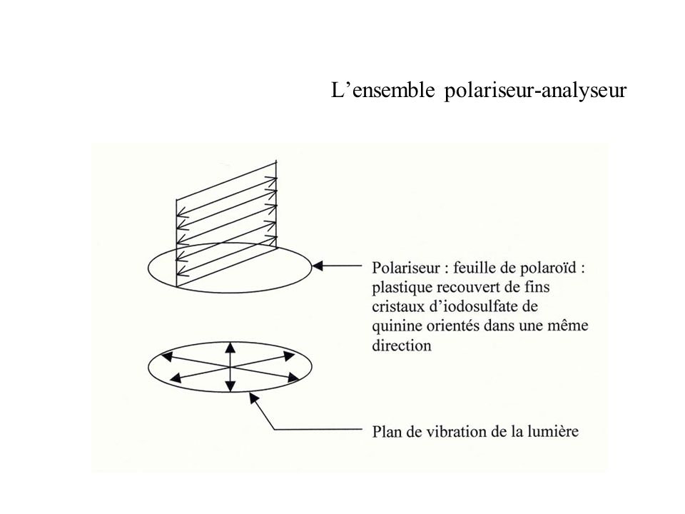 Lensemble polariseur-analyseur