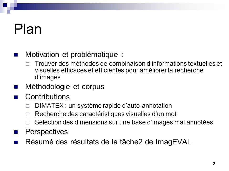 23 Complexité de DIMATEX Le modèle DIMATEX ne nécessite aucun apprentissage ne possède aucun paramètre à optimiser Sa complexité moyenne est celle des VA-Files.