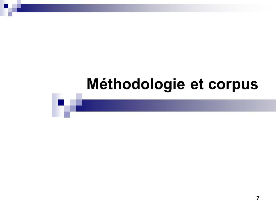 7 Méthodologie et corpus