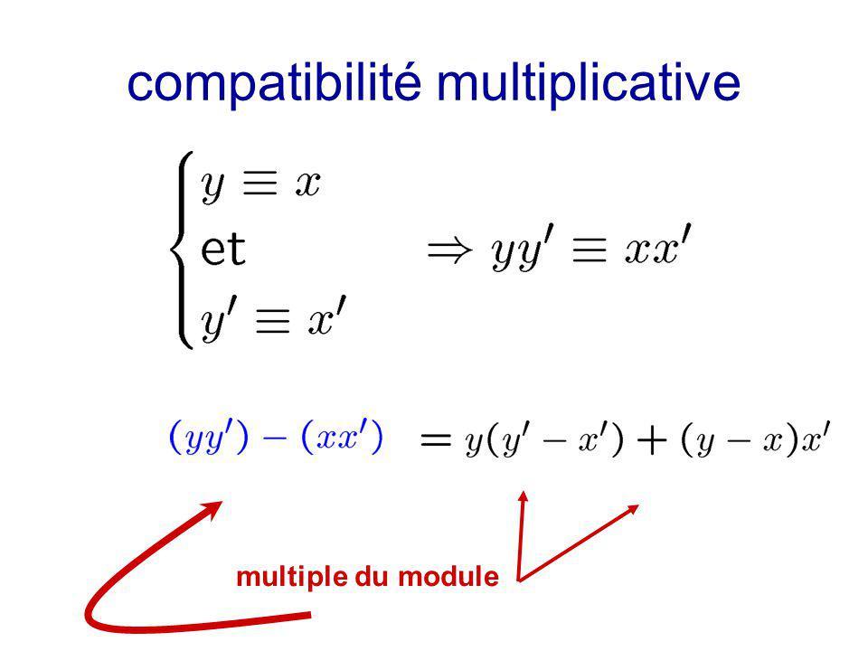 compatibilité multiplicative multiple du module