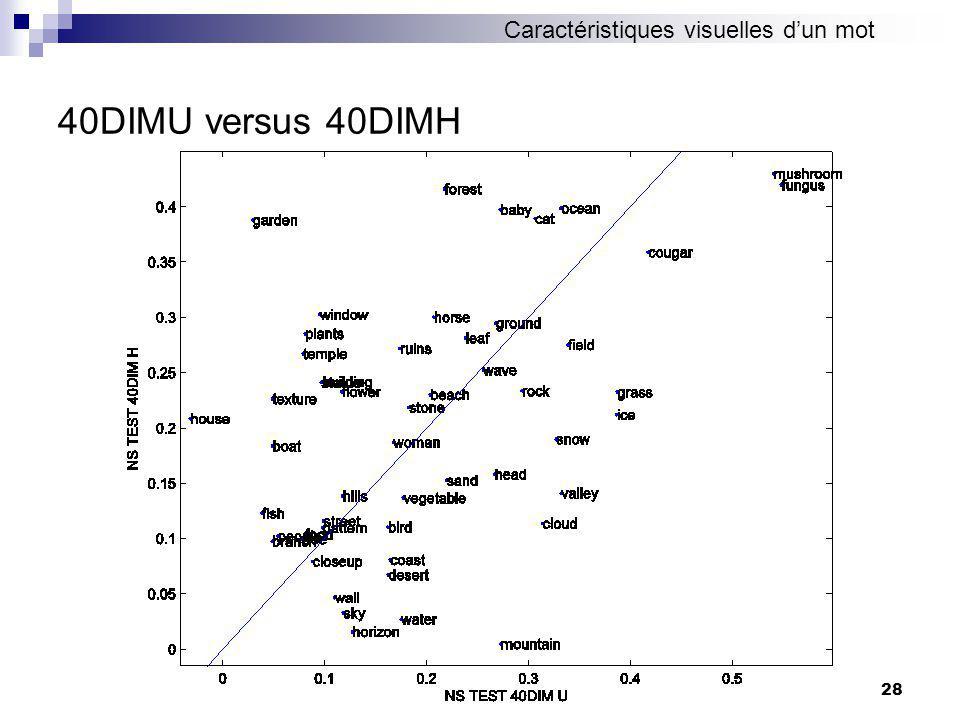 28 40DIMU versus 40DIMH Caractéristiques visuelles dun mot
