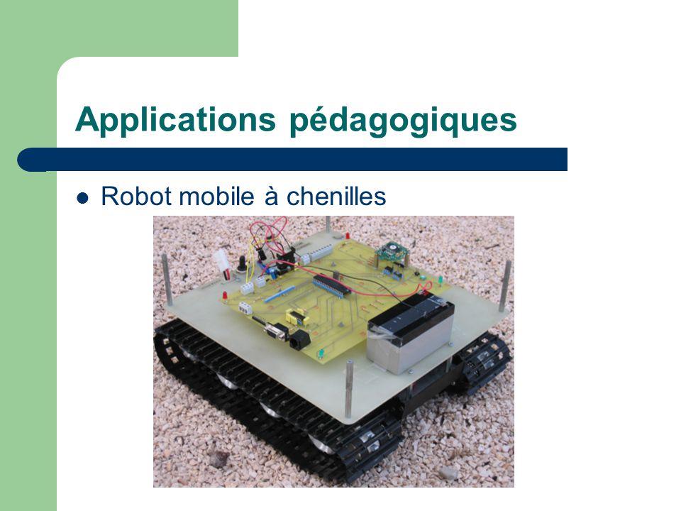 Applications pédagogiques Robot mobile à chenilles