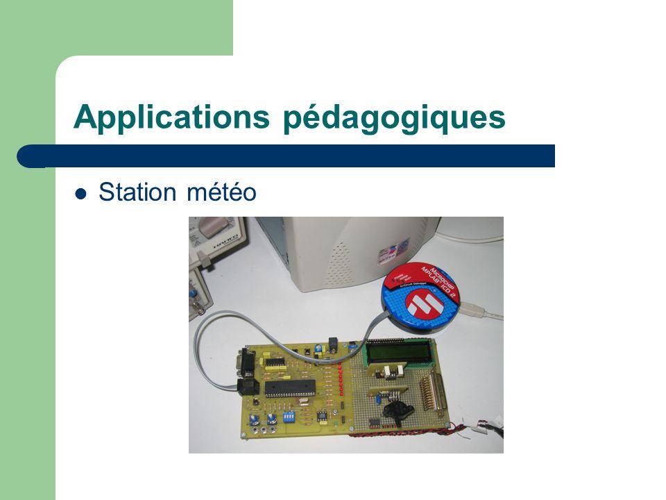 Applications pédagogiques Station météo