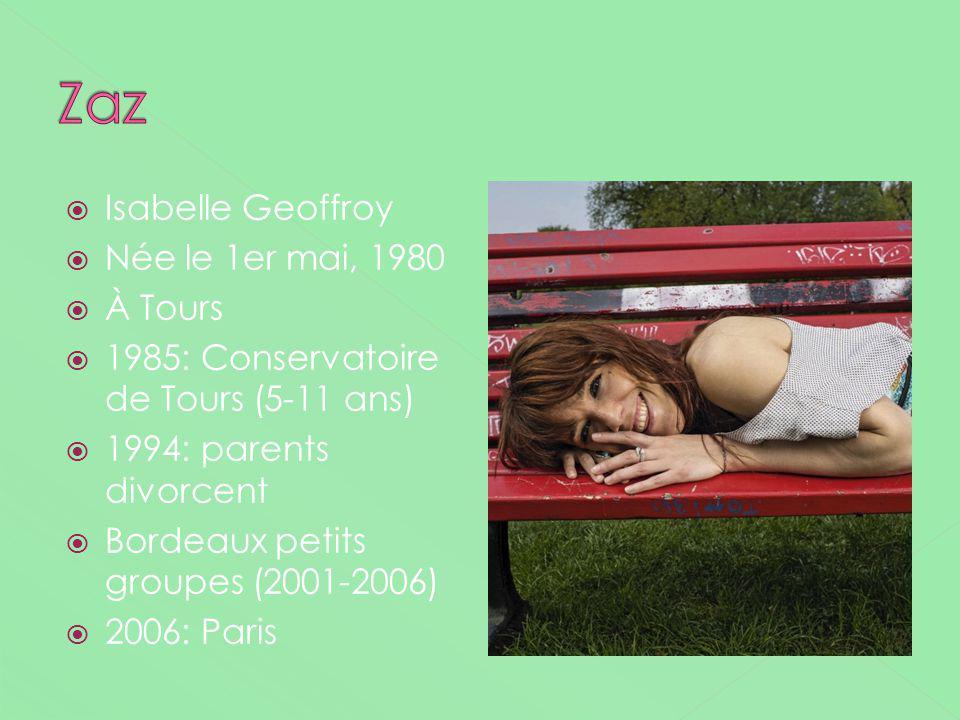 Isabelle Geoffroy Née le 1er mai, 1980 À Tours 1985: Conservatoire de Tours (5-11 ans) 1994: parents divorcent Bordeaux petits groupes (2001-2006) 200