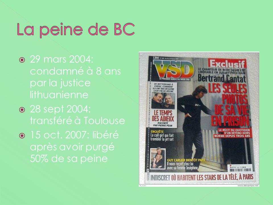 29 mars 2004: condamné à 8 ans par la justice lithuanienne 28 sept 2004: transféré à Toulouse 15 oct. 2007: libéré après avoir purgé 50% de sa peine