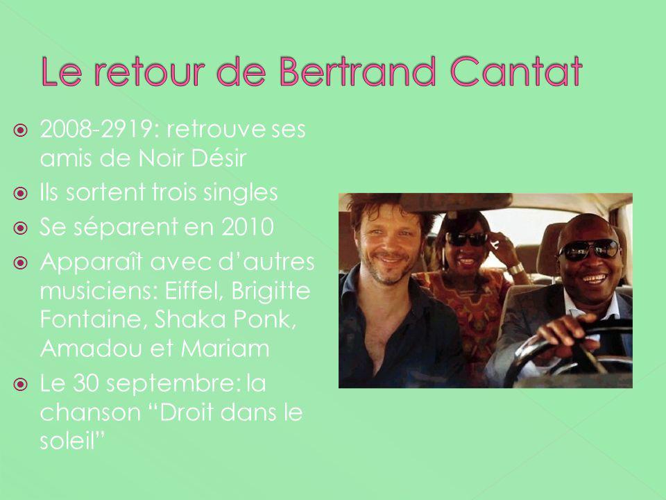 2008-2919: retrouve ses amis de Noir Désir Ils sortent trois singles Se séparent en 2010 Apparaît avec dautres musiciens: Eiffel, Brigitte Fontaine, S