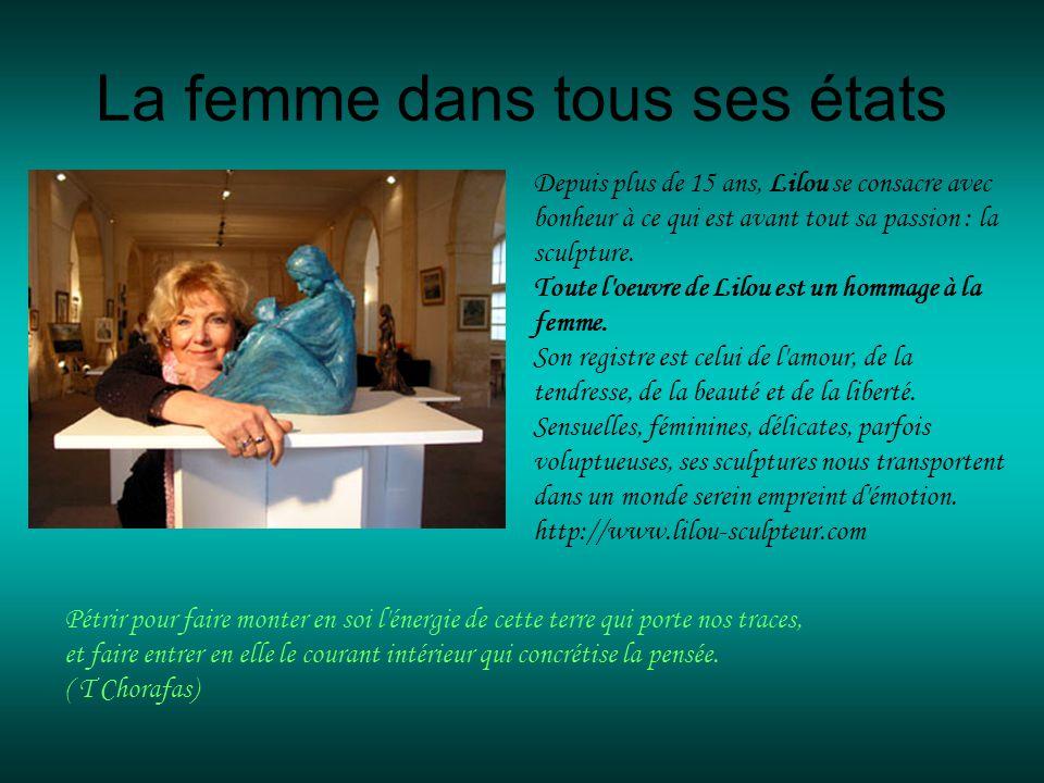Sculptures de Lilou Bronzes et Céramiques Défilement automatique Musique : DANY BRILLANT Tant quil y aura des femmes (extrait)