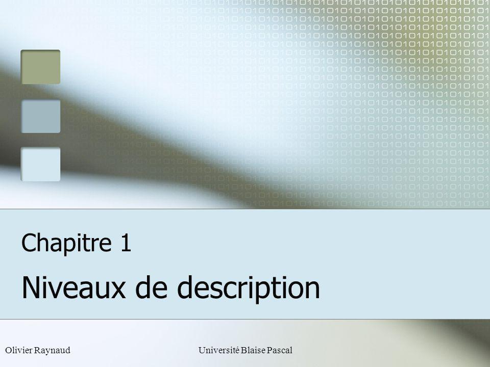Olivier RaynaudUniversité Blaise PascalClermont-Ferrand Application du principe dinduction Base Règle de construction k k h=0 h=n h=1 h=n h=n+1 Chap.