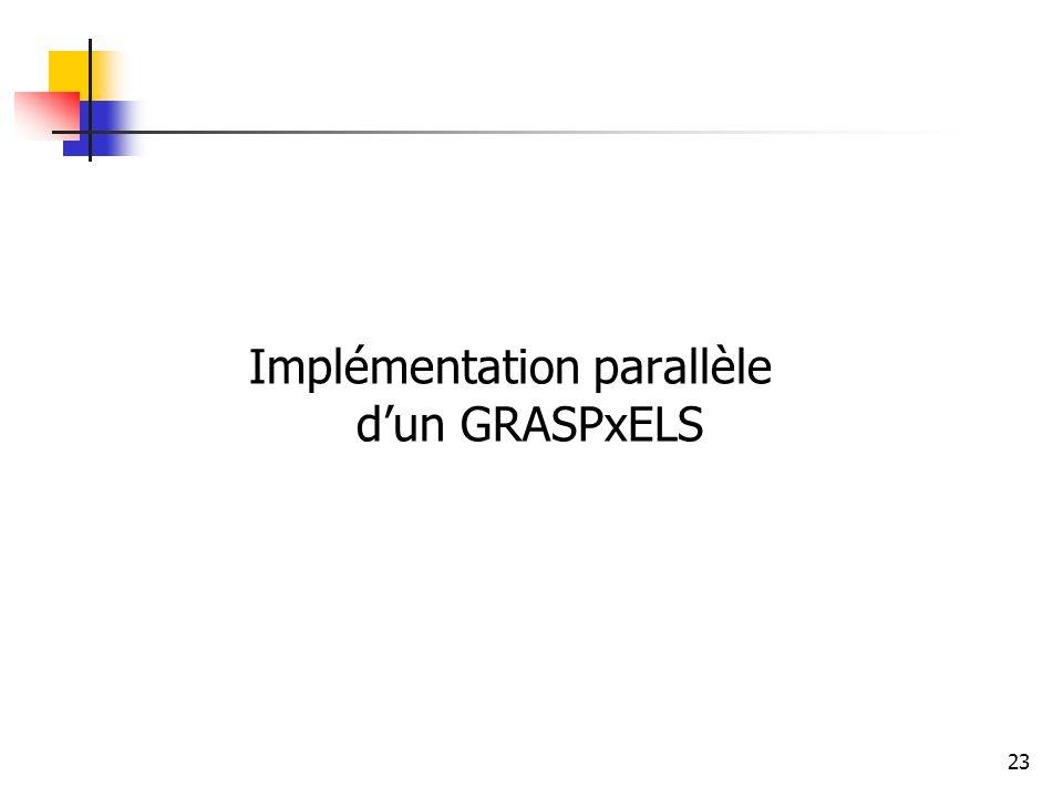 23 Implémentation parallèle dun GRASPxELS