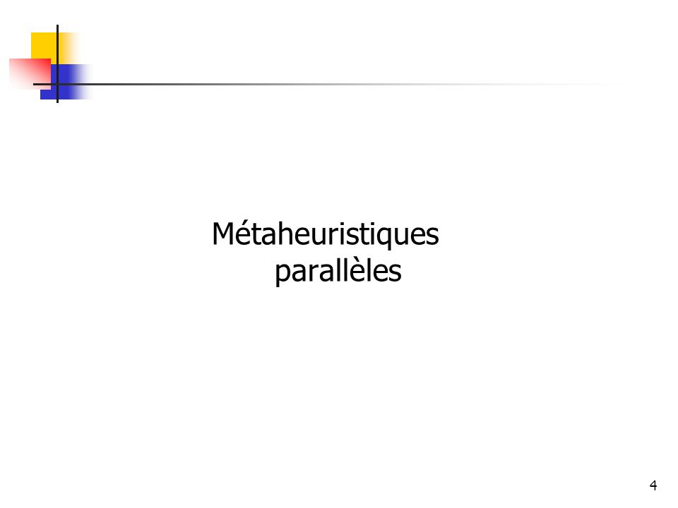 5 Quelques publications Parallel GRASP with path-relinking for job shop scheduling R.M.