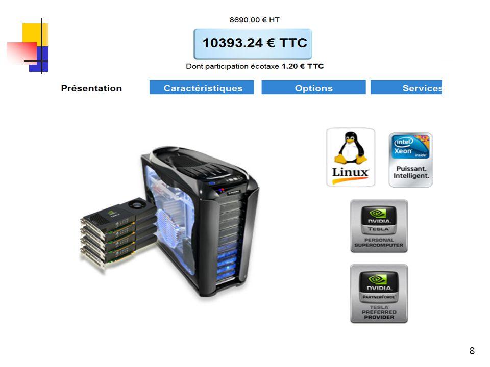 8 Approches possibles (1/5) CUDA Très fort parallélisme Utilise les cartes graphiques NVIDIA Problèmes de mémoire Parallélisation par threads Exploite le processeur central Largement répandu