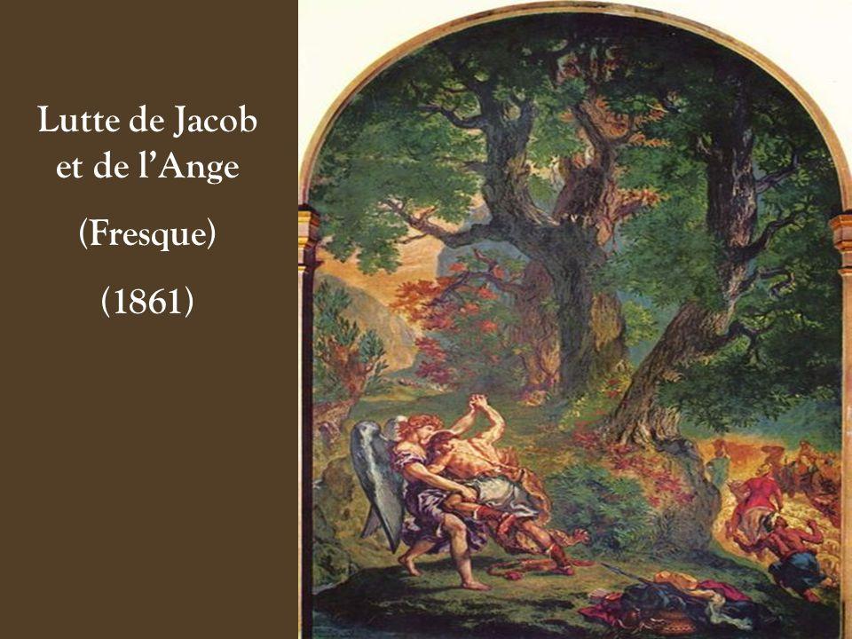 Lutte de Jacob et de lAnge (Détail) (1861)