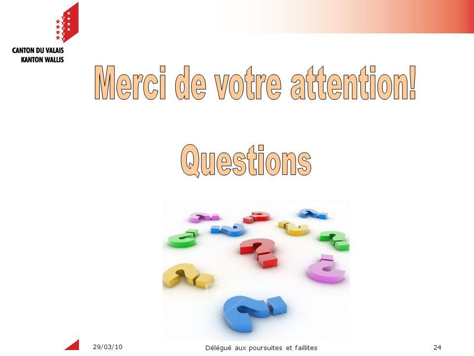 24 Délégué aux poursuites et faillites 29/03/10
