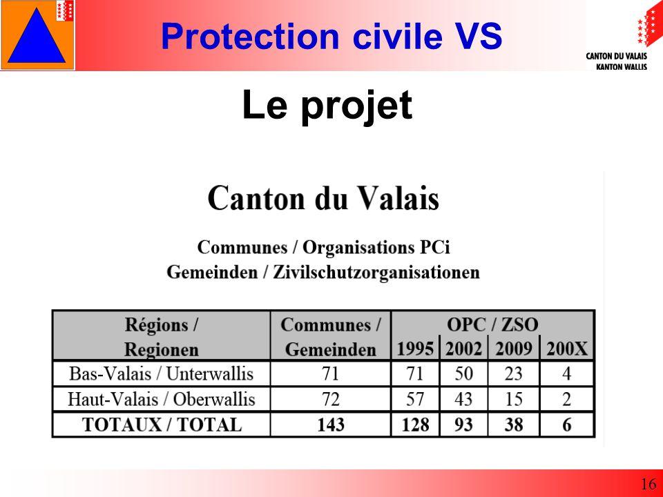 Protection civile VS 16 Le projet