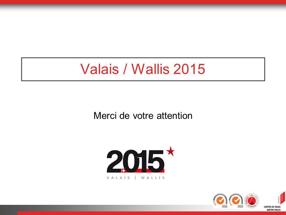 Valais / Wallis 2015 Merci de votre attention