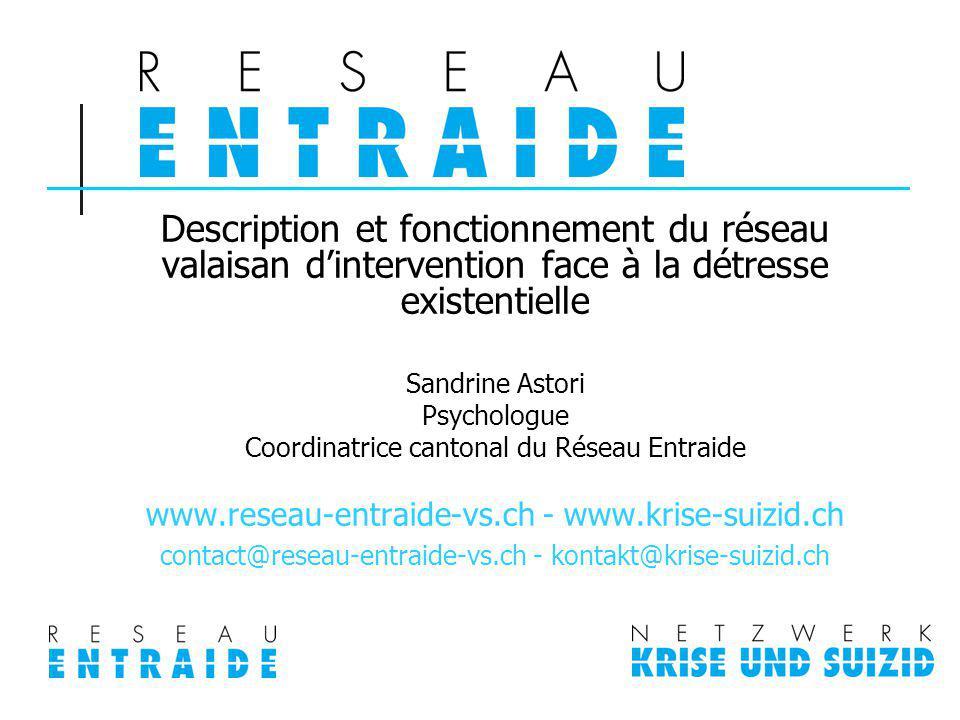 Contexte Début 2007: Etat du Valais décide de la mise en œuvre dune démarche de prévention de la détresse existentielle, comprenant la prévention du suicide.