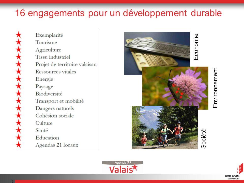 2 16 engagements pour un développement durable Economie Environnement Société
